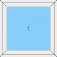 001 Fenster einflügelig mit festeingeb. Flügel