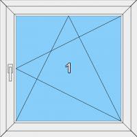 002  Fenster einflügelig, dreh- und kippbar