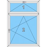 004 Fenster zweiflügelig, dreh- kippbar und einem kipp Oberlicht