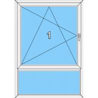 006 Fenster einflügelig, dreh- und kippbar und einer Blendrahmenfestverglasung als Unterlicht
