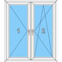 007 Fenster zweiflügelig, dreh- und dreh-kippbar mit Pfosten