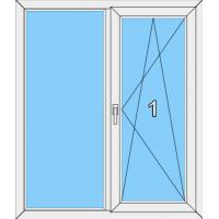 009 Fenster zweiflügelig mit einer Blendrahmenfestvergasung sowie dreh-kippbaren Flügel