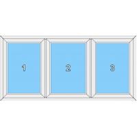 020 Fenster mit drei festeingeschraubtem Flügel